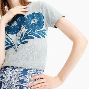 J.Crew Abigail Borg Anemone T-Shirt, Size XS